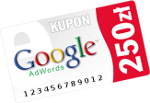Google kupon 250zł