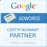 Logo Certyfikowanego partnera Google Adwords