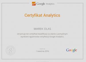 Certyfikat_Google_Analtycs_Marek_Olas_2014