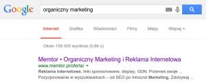 Tytuł w wynikach wyszukiwania Google