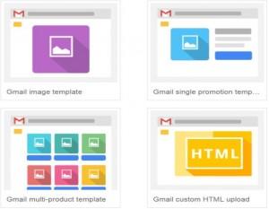 Szablony reklam na Gmail