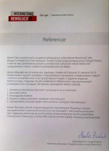 Referencje - Internetowe Rewolucje Google | Napędzamy polskie sukcesy