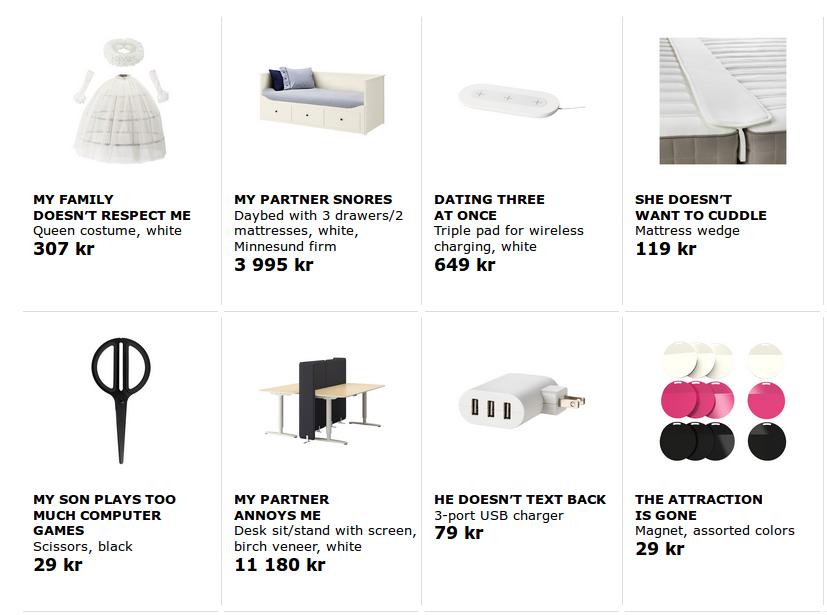 Ikeatherapy - produkty z nietypowymi nazwami