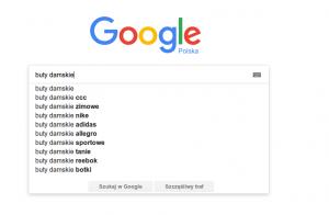 Sugestie - wyszukiwarka Google