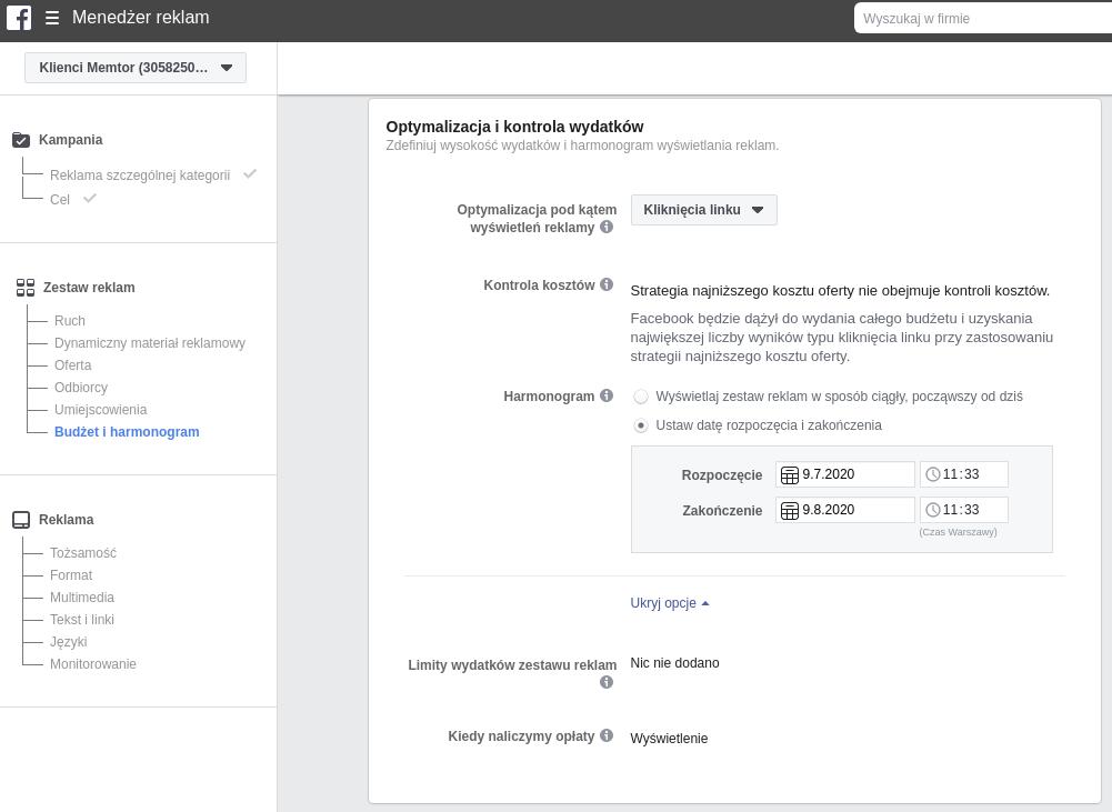 Targetowanie reklam Facebook Ads (Facebook i Instagram) krok po kroku 2