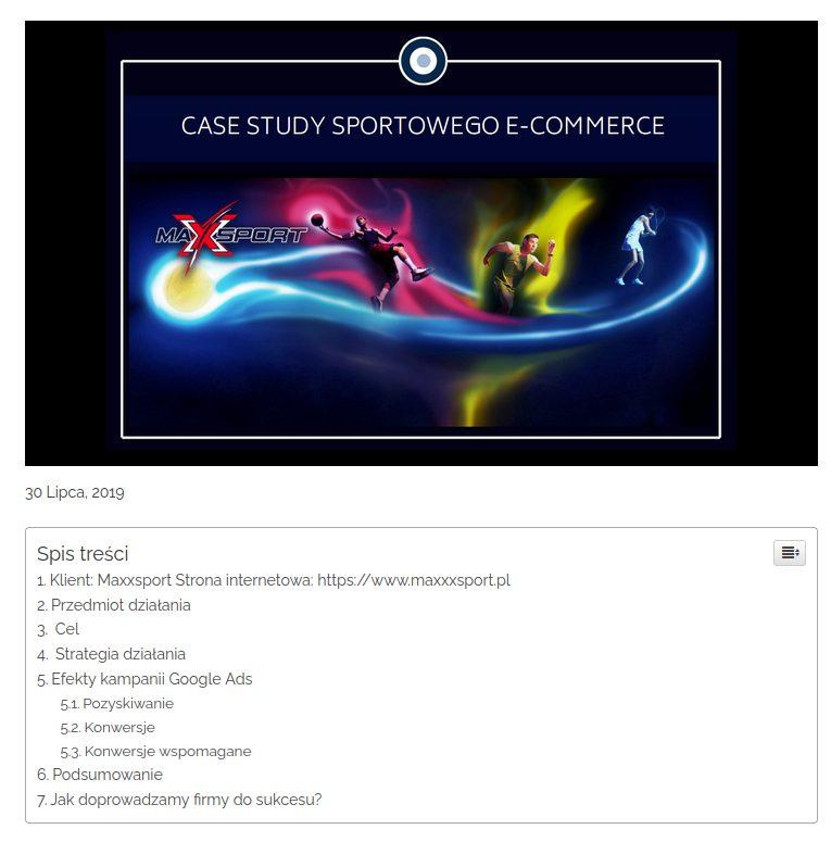 case study sportowego e-commerce