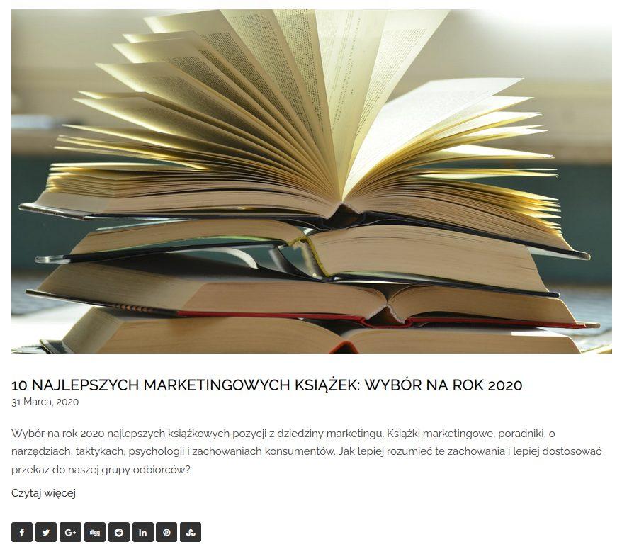 zestawienie 10 najlepszych marketingowych książek wybór na rok 2020